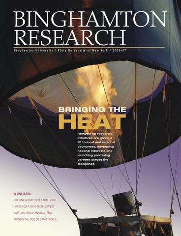Binghamton University Research Magazine 2007 By Division Of