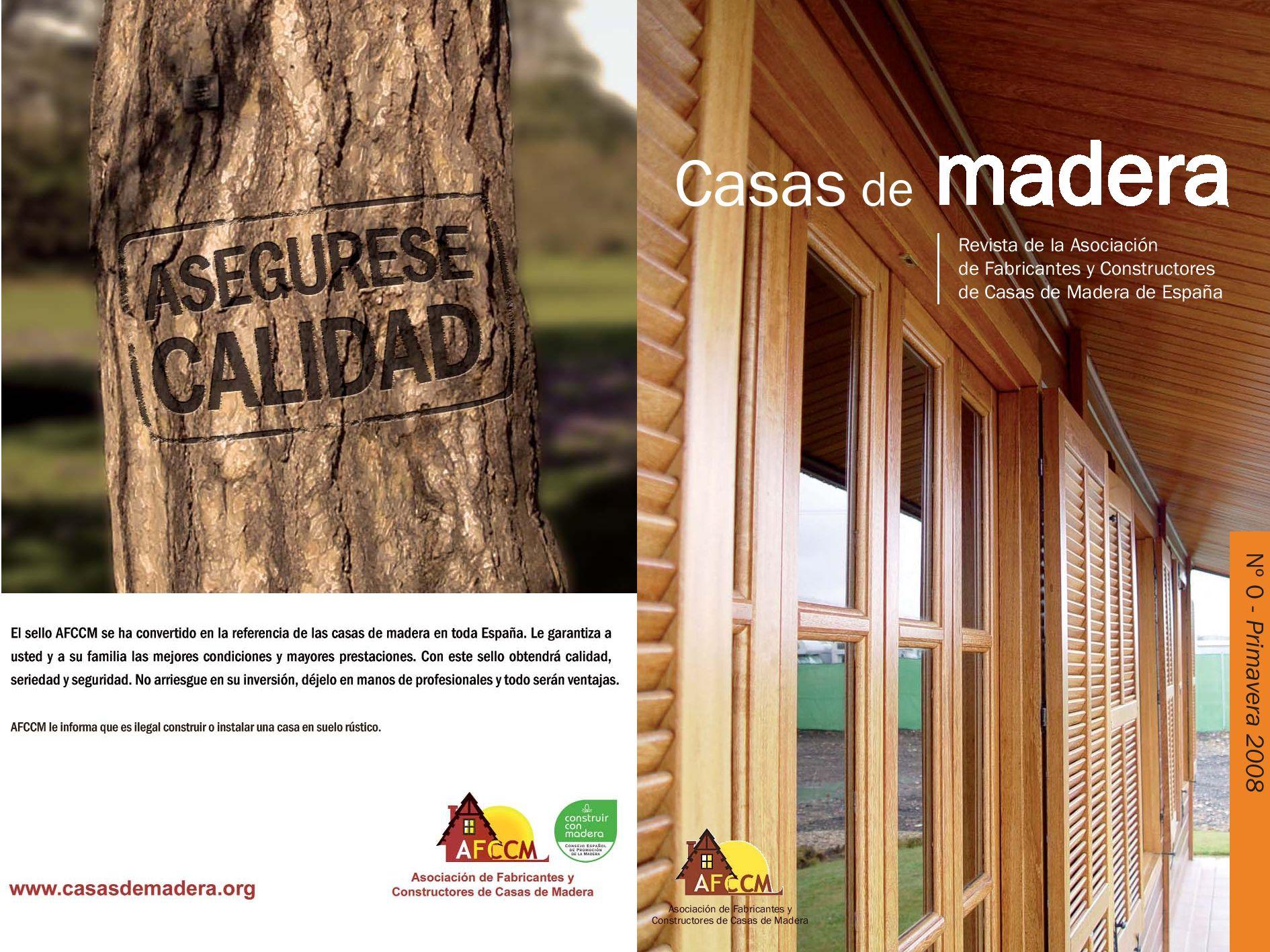 Revista afccm n 0 by federaci n espa ola de industrias de - Constructores de casas de madera ...