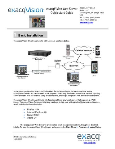 exacqvision web server