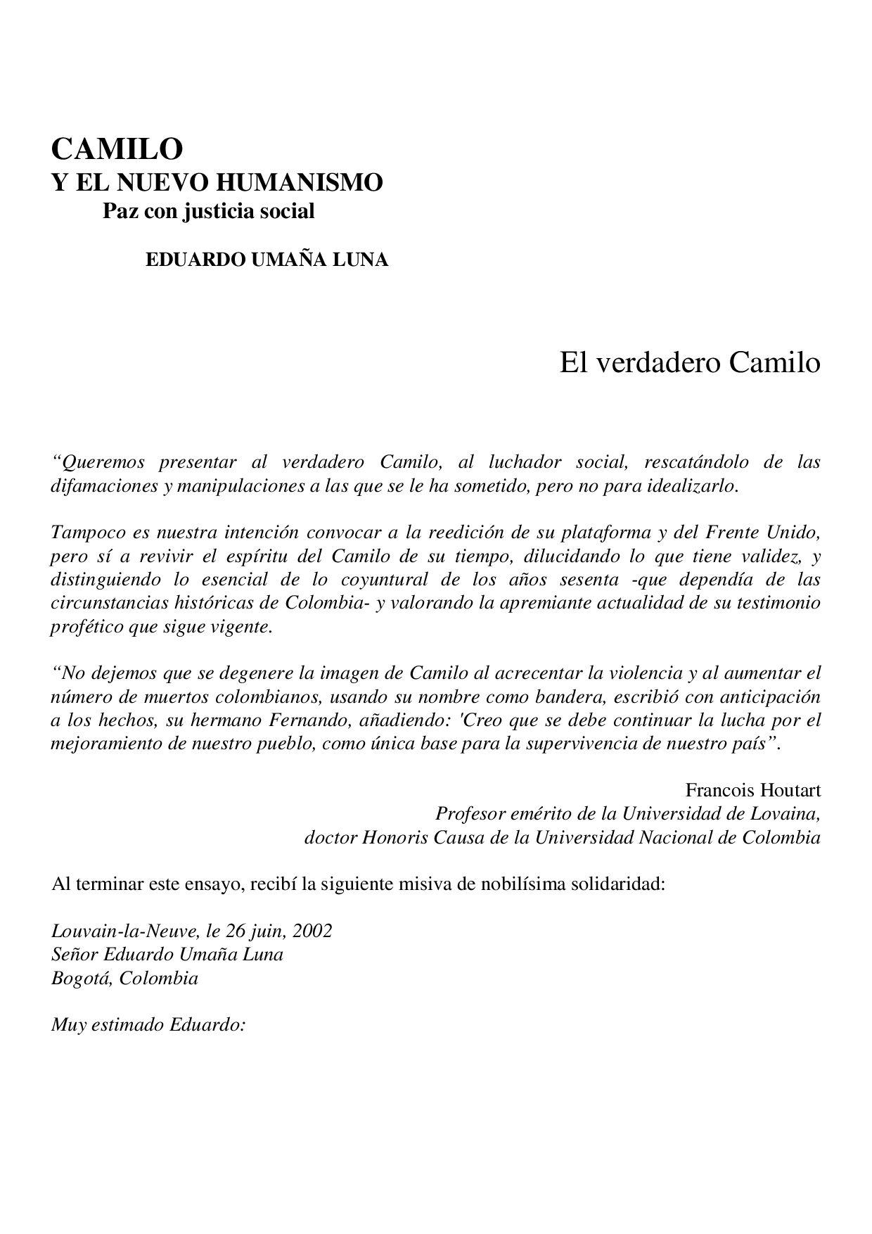 CAMILOY EL NUEVO HUMANISMO by camilo vive - issuu