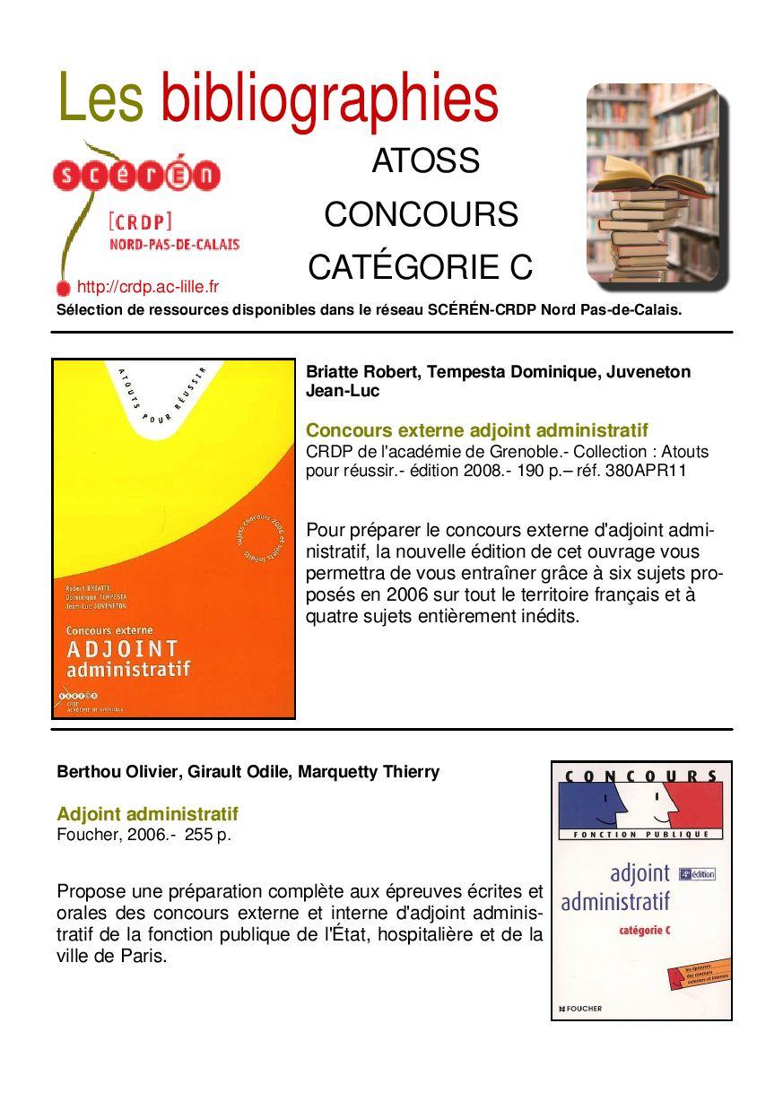 Biblio atoss concours categorie c by canop acad mie de - Nouvelle grille indiciaire categorie c fonction publique hospitaliere ...