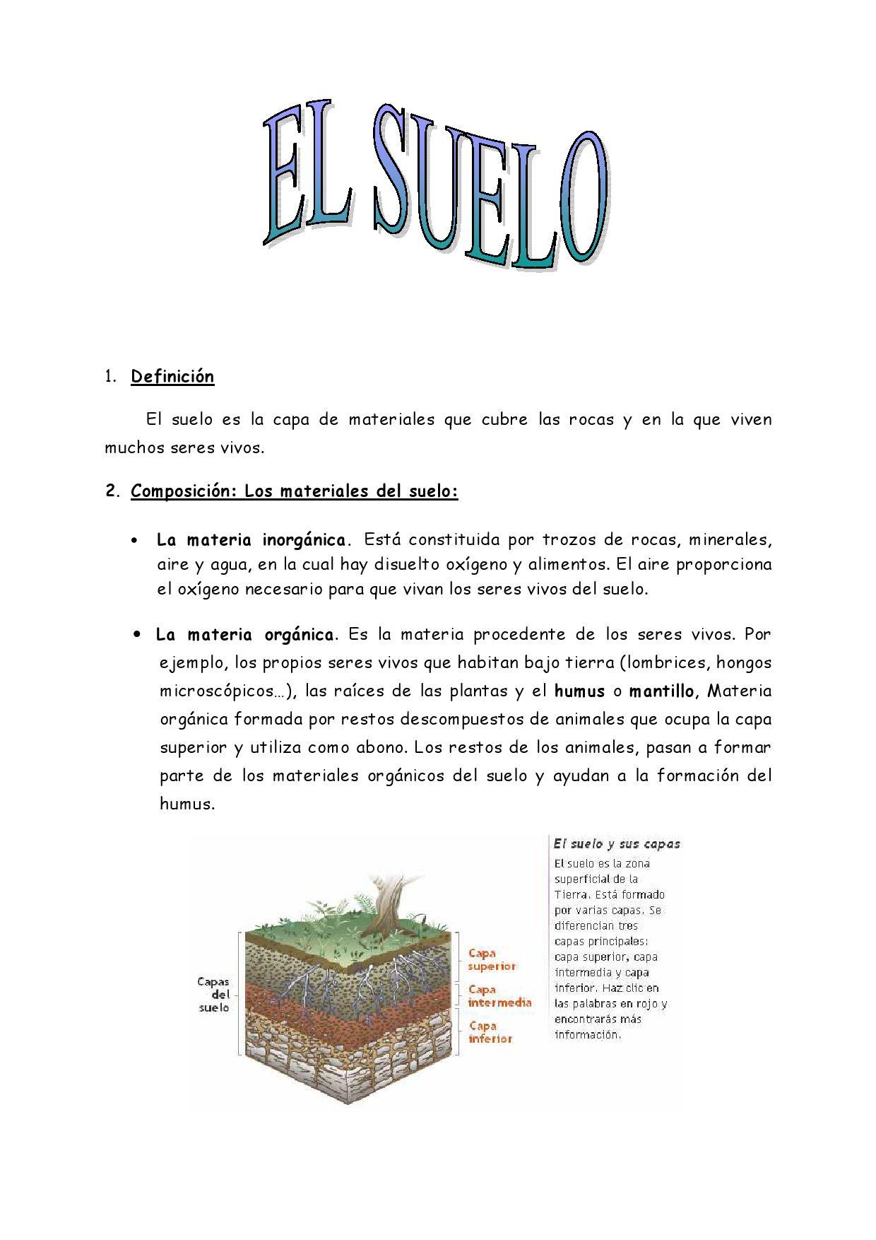 El suelo by segundo ciclo valdeolea issuu for El suelo y sus capas