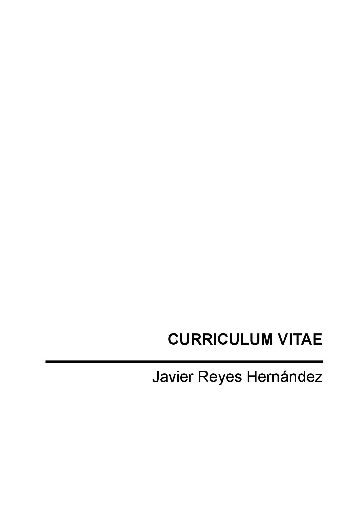 curriculum by Javier Reyes - issuu
