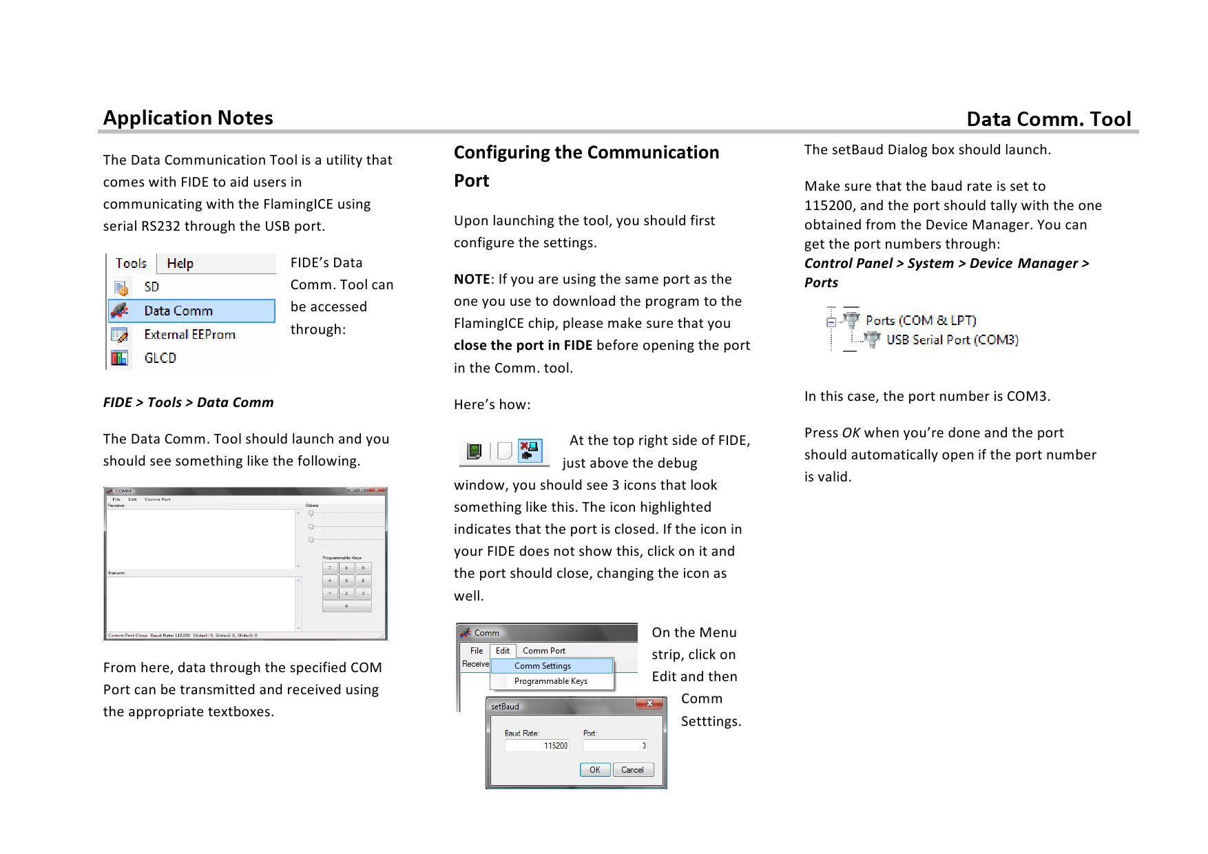 Application Notes - Data Comm  Tool by AIS Cube - issuu