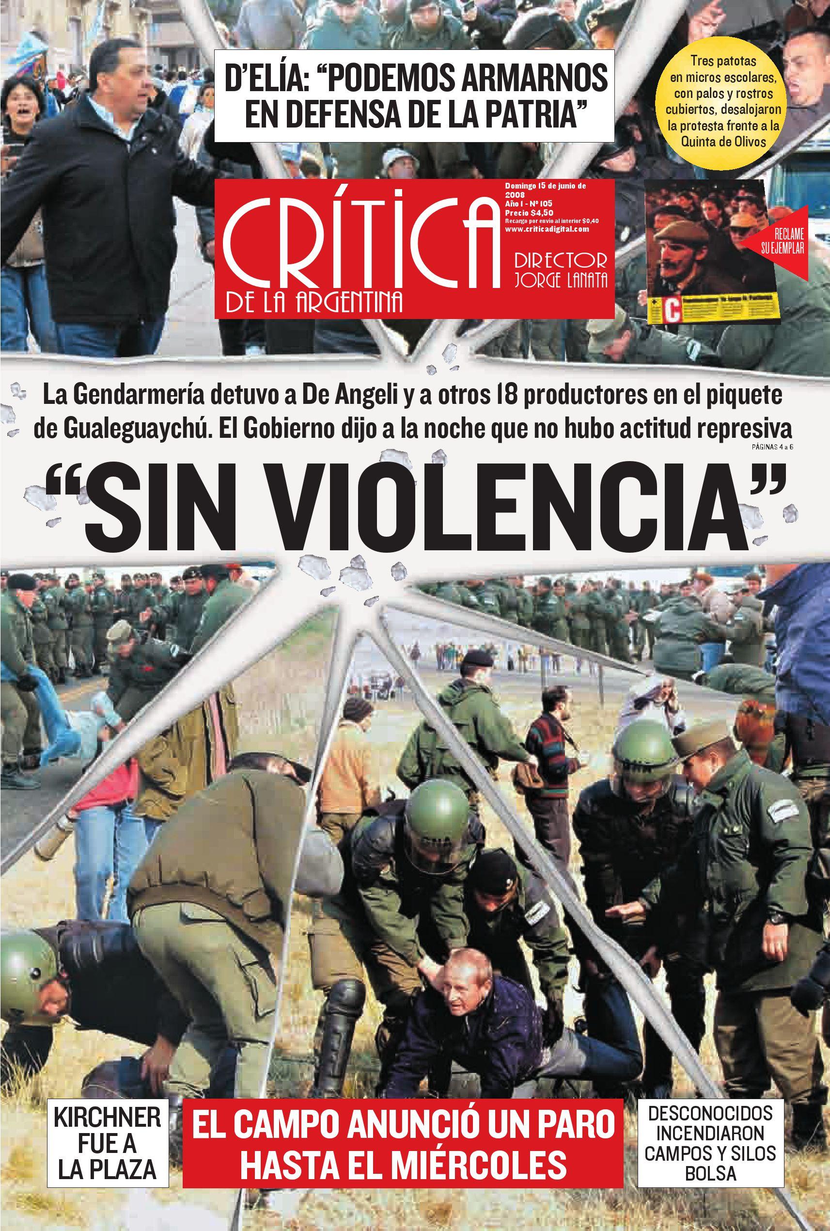 Diario Critica Argentina 15 jun 2008 by Teresa Elguer - issuu 6a6234f2049