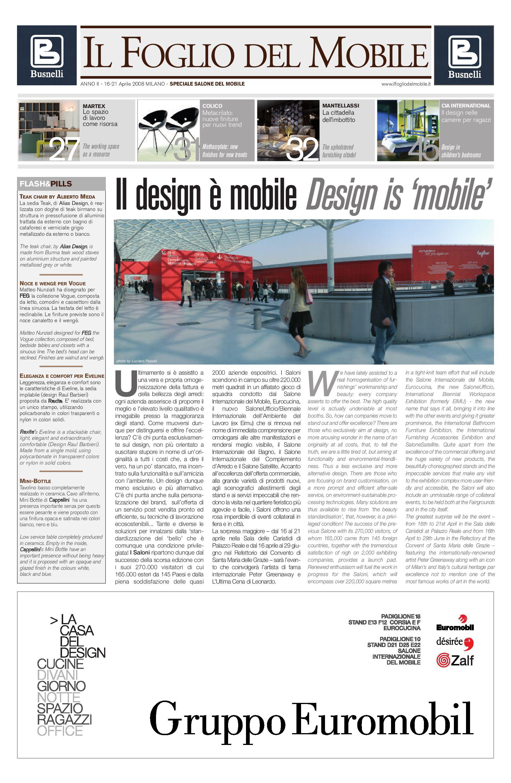 Colico Design Varedo Orari.Ifdm N 1 2008 Salone Del Mobile Milano By Ifdm Issuu