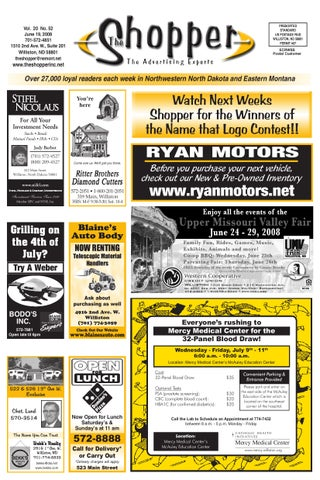 The shopper june 19 2008 by the shopper issuu for Ryan motors in williston nd