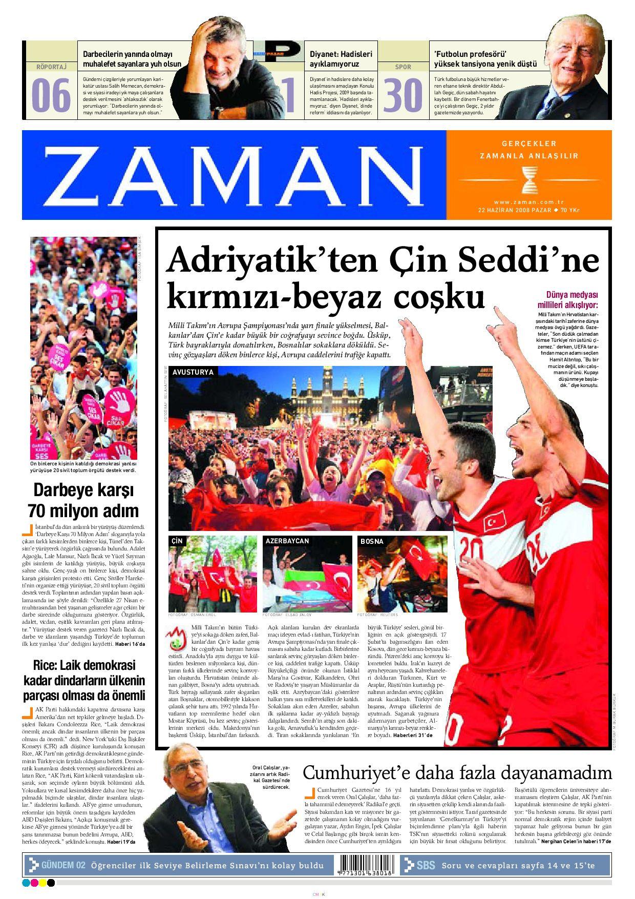Zaman Gazetesi 22 Haziran 2008 By Zaman Issuu