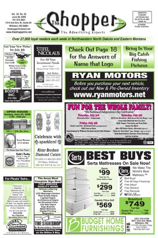 The shopper june 26 2008 by the shopper issuu for Ryan motors in williston nd