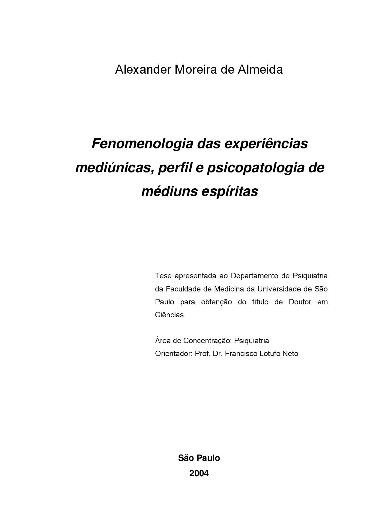 Tese sobre a mediunidade by gabriel moreira issuu fandeluxe Image collections