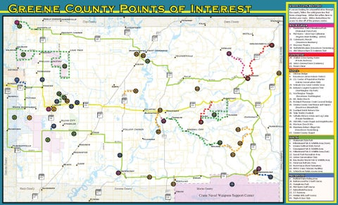 Greene County Indiana Tourism Map By Lintonian Issuu