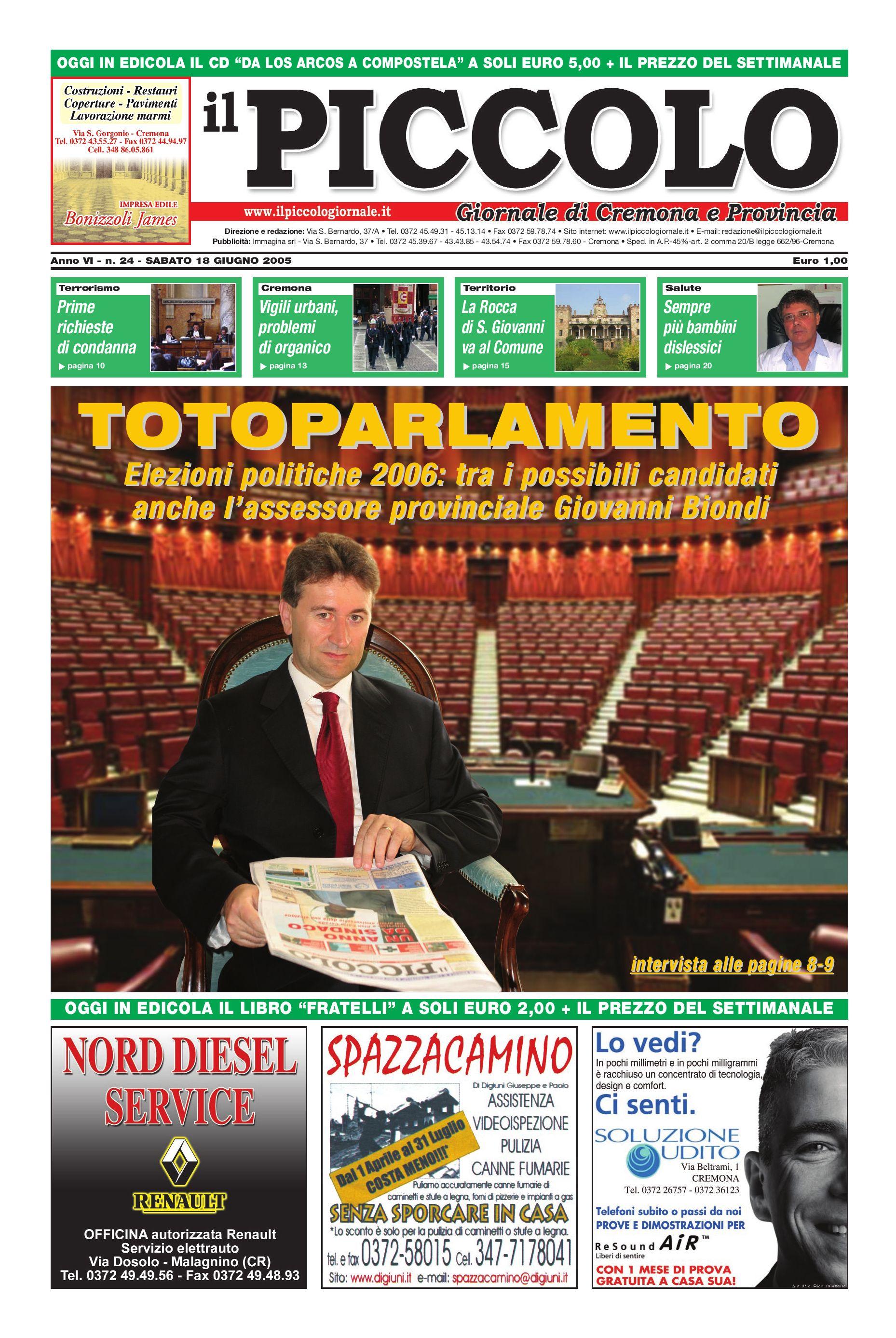 Il Piccolo Giornale  18 giugno 2005  by Simone Ramella - issuu 2f4636ffb161