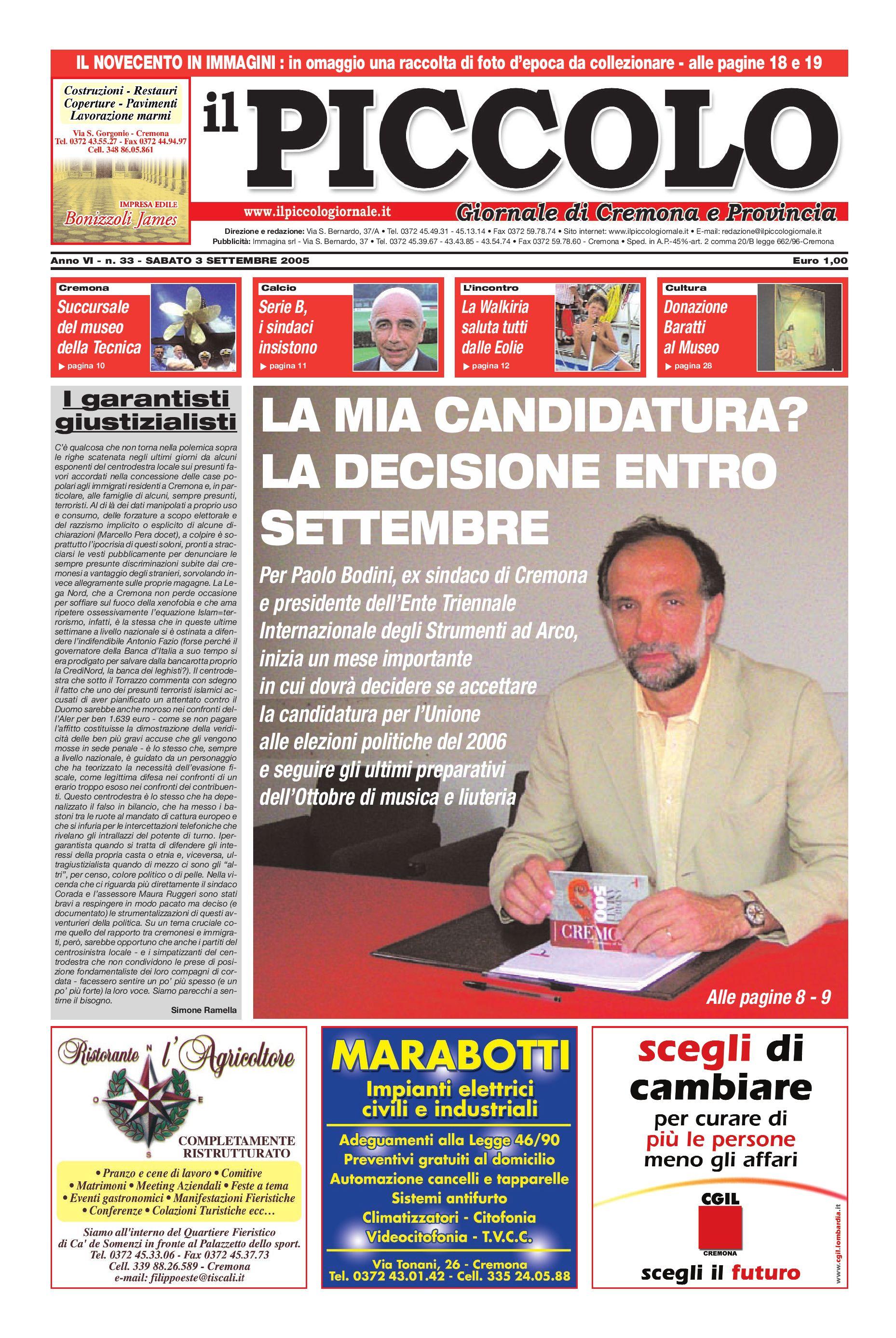 4df4032c4086 Il Piccolo Giornale [3 settembre 2005] by Simone Ramella - issuu