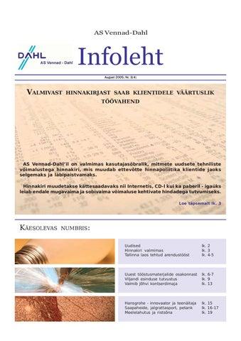 95c83f853f4 Vennad-Dahl Infoleht nr.4 by Vennad-Dahl - issuu