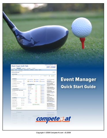 Golf Event Management Quick Start Guide by Compete-At - issuu