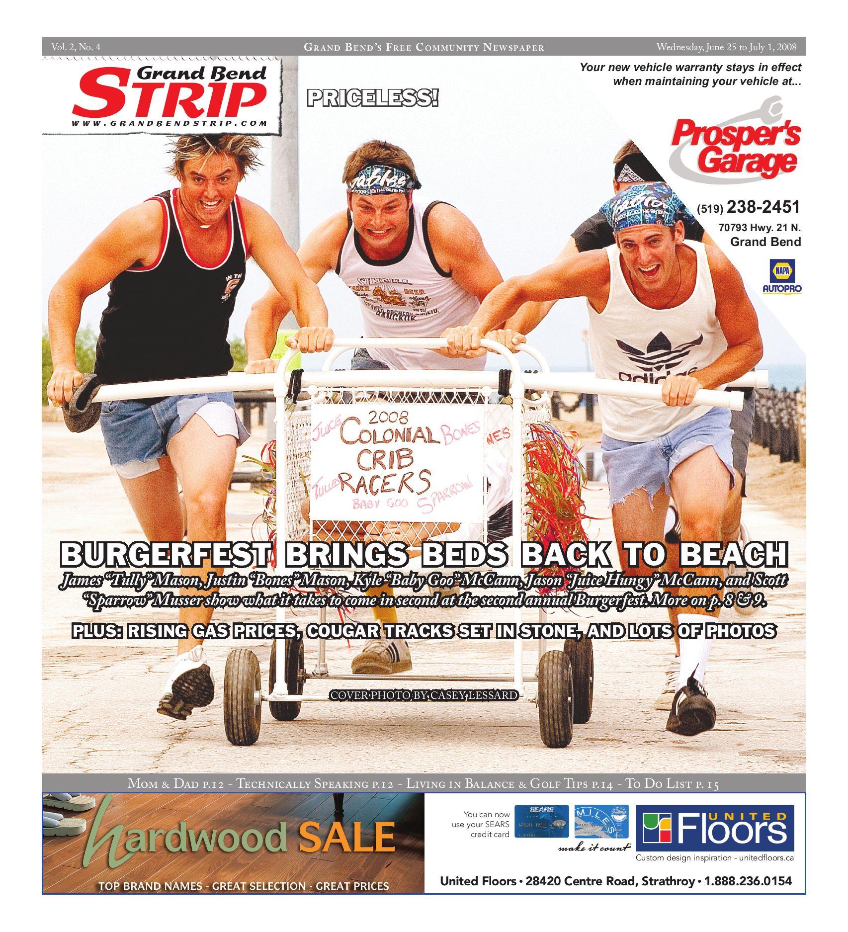 Vol 2 4 Grand Bend Strip June 25 2008 By Grand Bend Strip Issuu