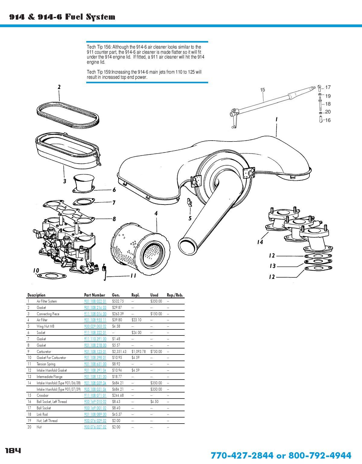 porsche 914 parts catalog by jason humphrey