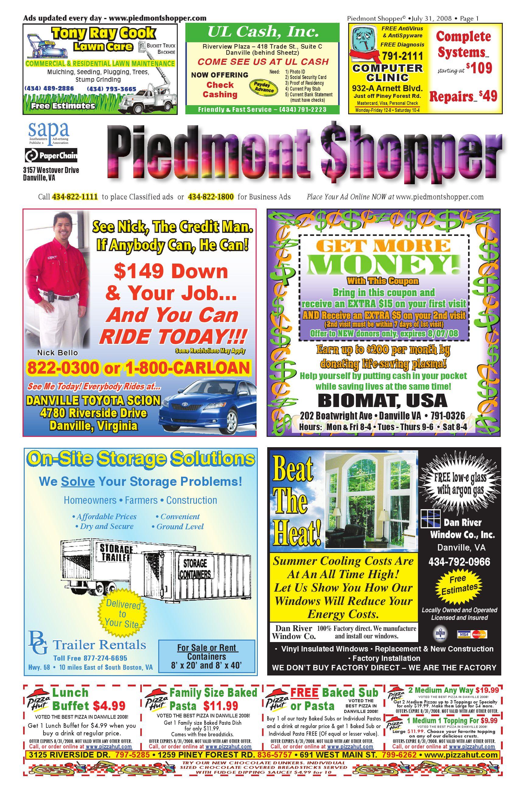 Piedmont Shopper 7312008 By Alan Lingerfelt Issuu Com 1374 Holley1920onebarrelcarburetorexplodeddiagram