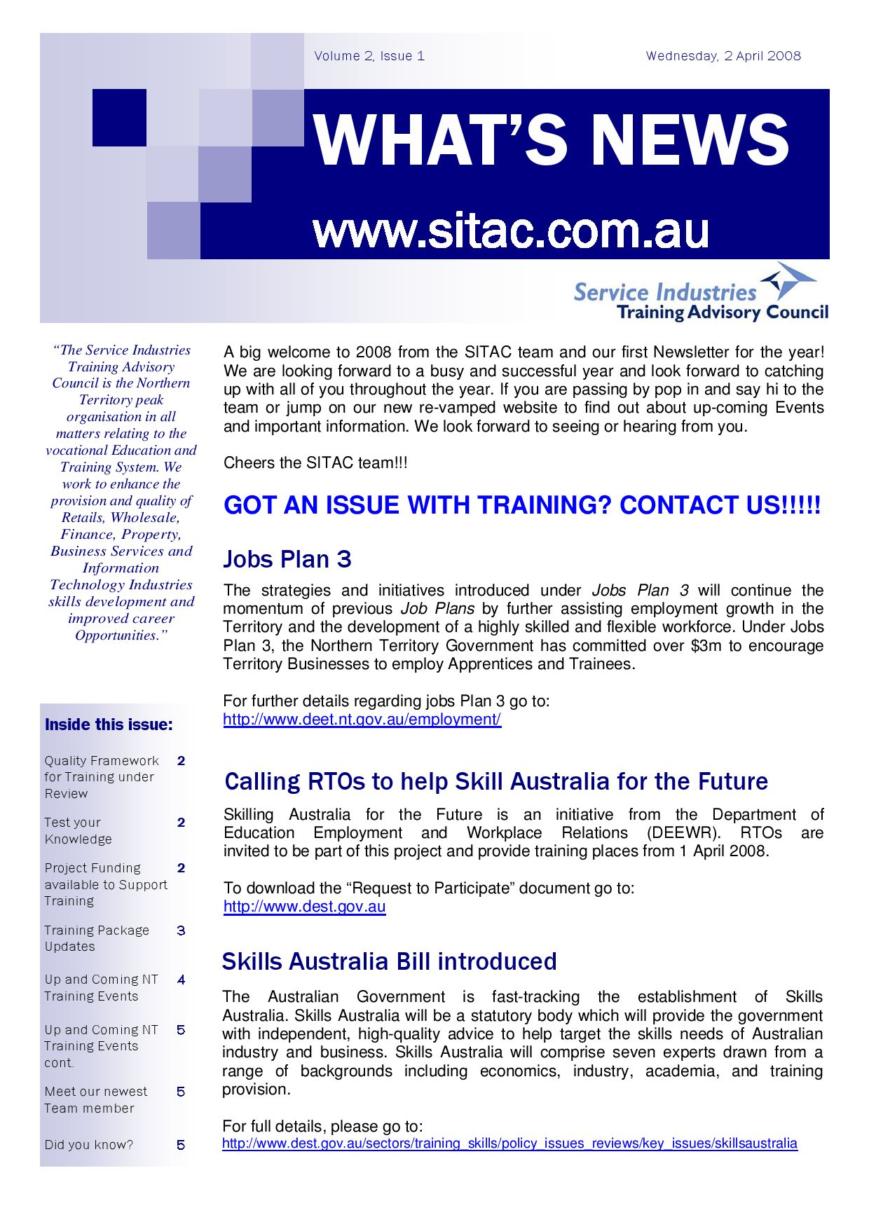 SITAC Newsletter - Volume 2 Issue 1 by Katharina Gerste - issuu