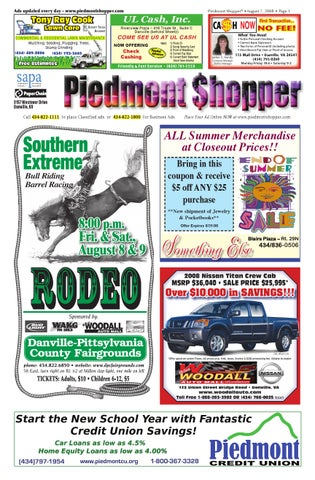 Piedmont Shopper 8.7.2008 by ALAN LINGERFELT - issuu fdf740788