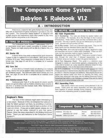 Babylon 5 C-G-S Rulebook by Zachary Limp - issuu