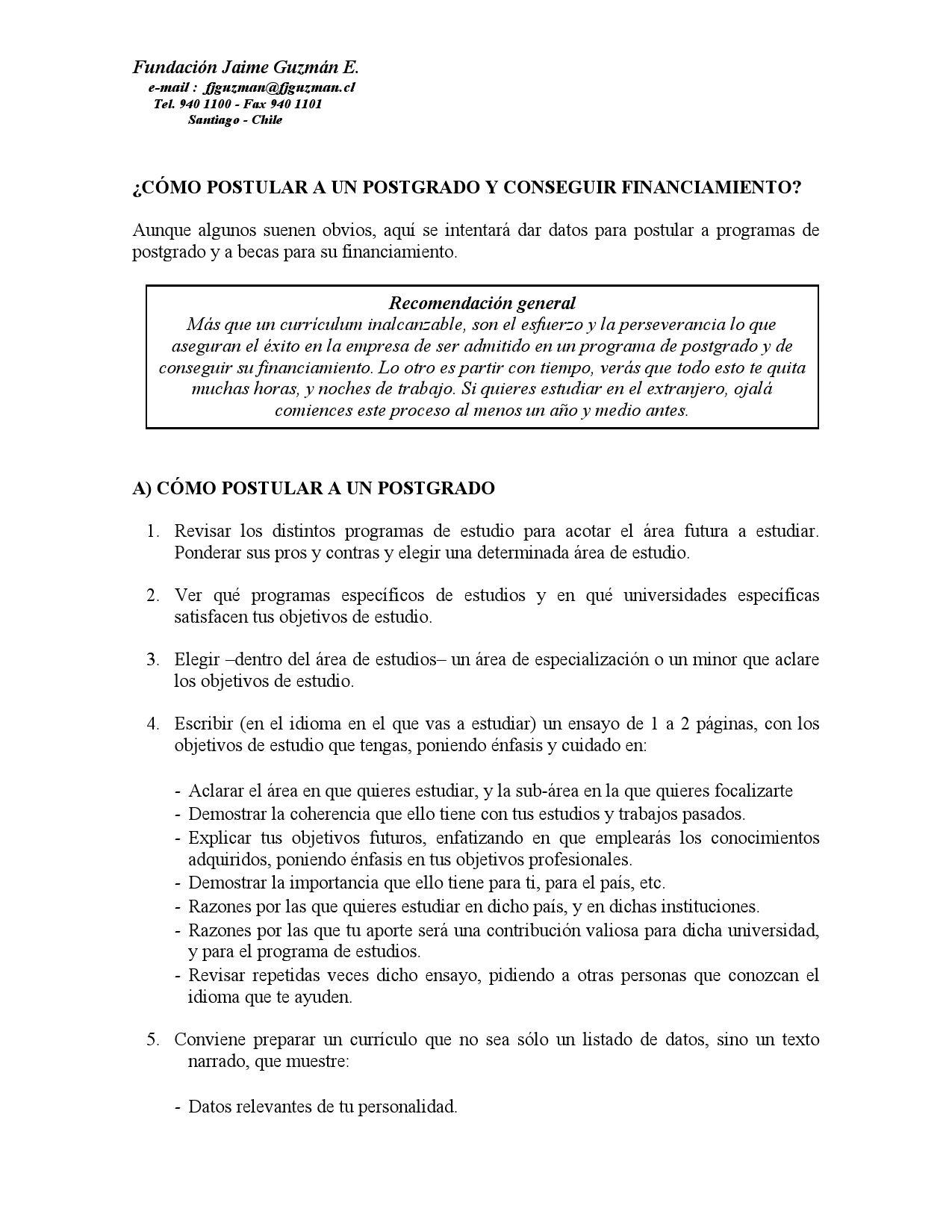 Becas y Postgrados by Jóvenes al Servicio de Chile Fundación Jaime ...