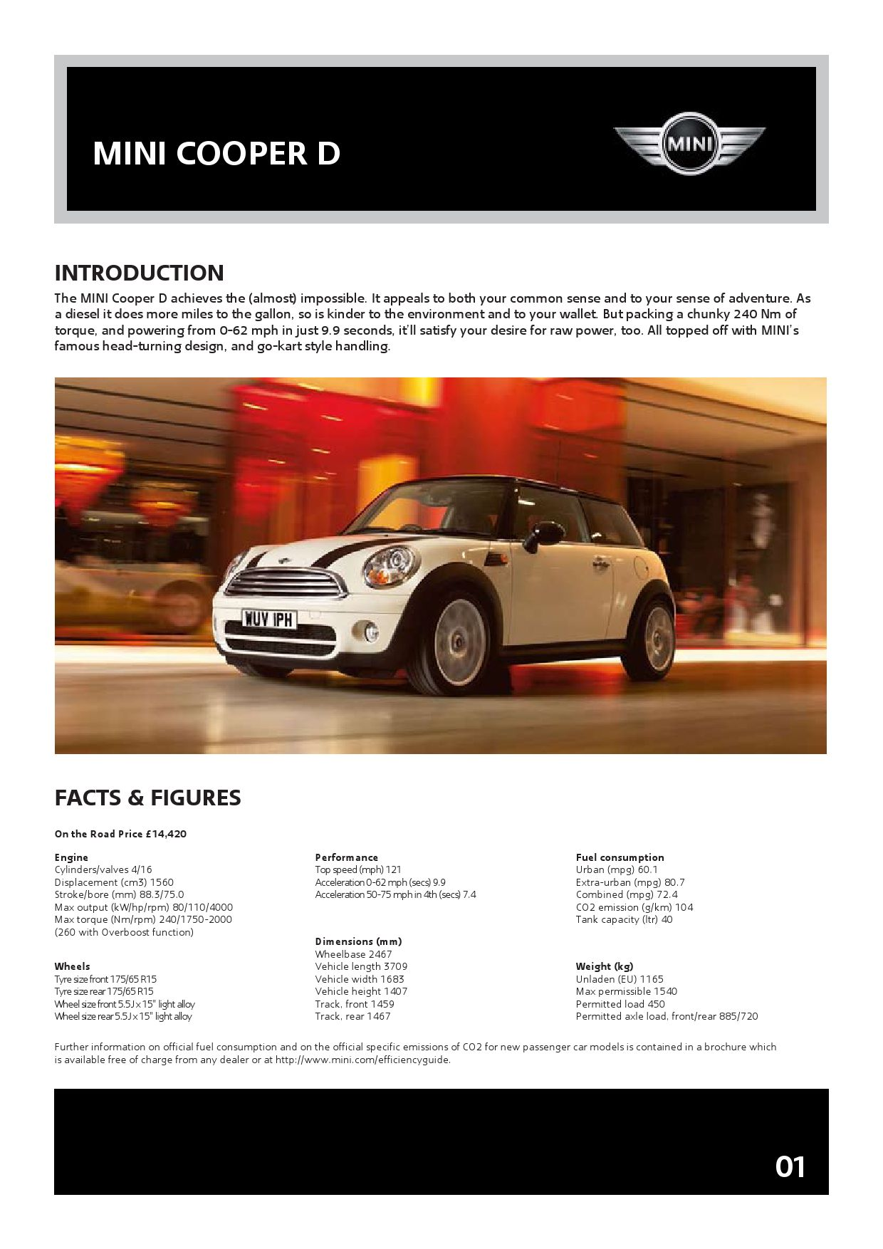 Mini Cooper D Pdf Brochure Uk Edition Aug 08 By L Jones Issuu