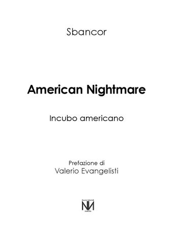 Una Foggia Di Colletto Rigido.Sbancor American Nightmare By Francesco Issuu