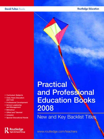 Practical And Professional Education Books 2008 By Taylor Francis