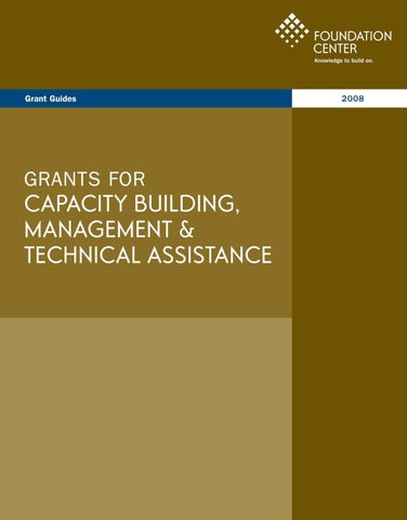 Capacity Building Grants 2008 by Blacksonville Community Network