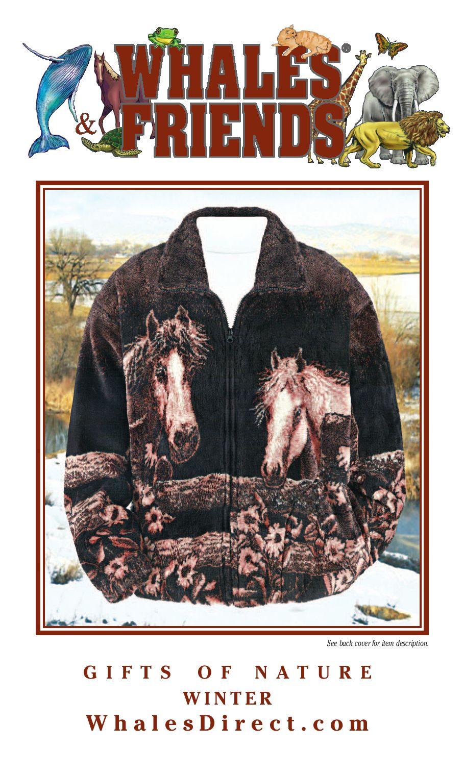Mens Fleece Jacket Printed Coat Polar Animal Dolphin Wolf Tiger Casual Winter