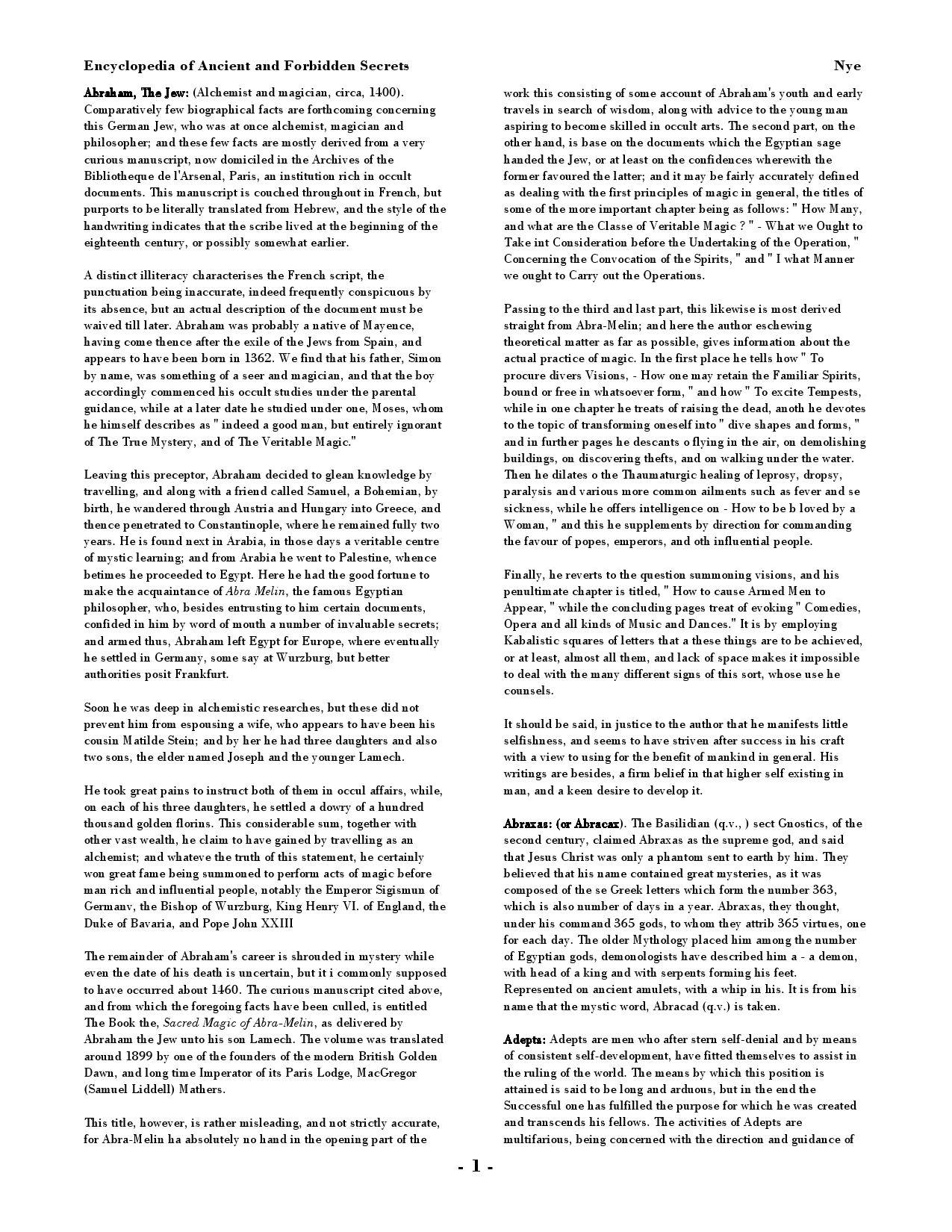Encyclopedia of Ancient & Forbidden Secrets by Carl Farrell issuu