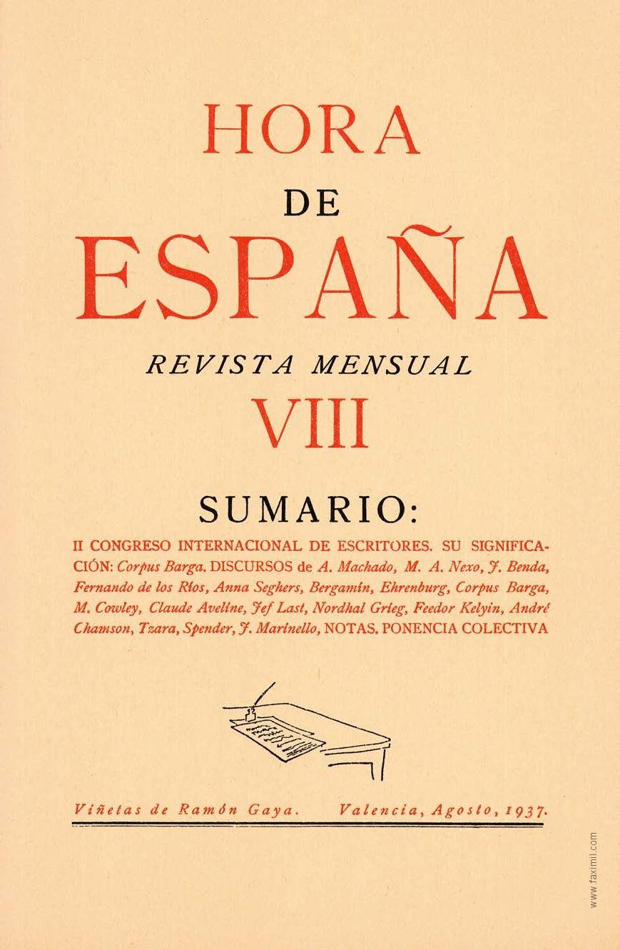 Hora de España. Número VIII. Agosto 1937 by Faximil Edicions ...