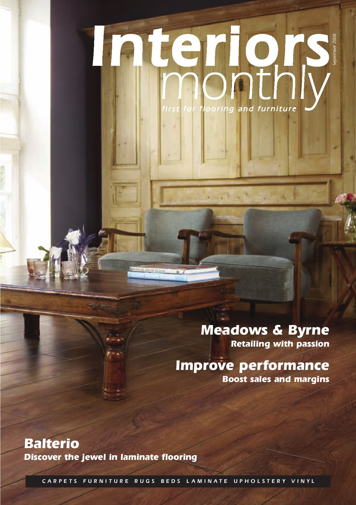 Interiors monthly september 2008 by interiors monthly issuu for Balterio flooring stockists