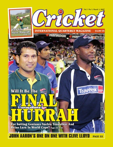 2007 Cricket World Cup Magazine By Shiek Mohamed Issuu