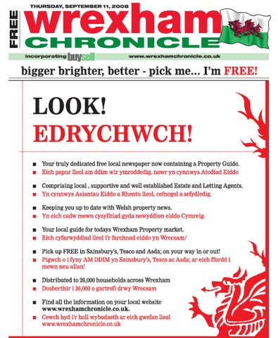 Wrexham Chronicle 11 9 08 By James Shepherd