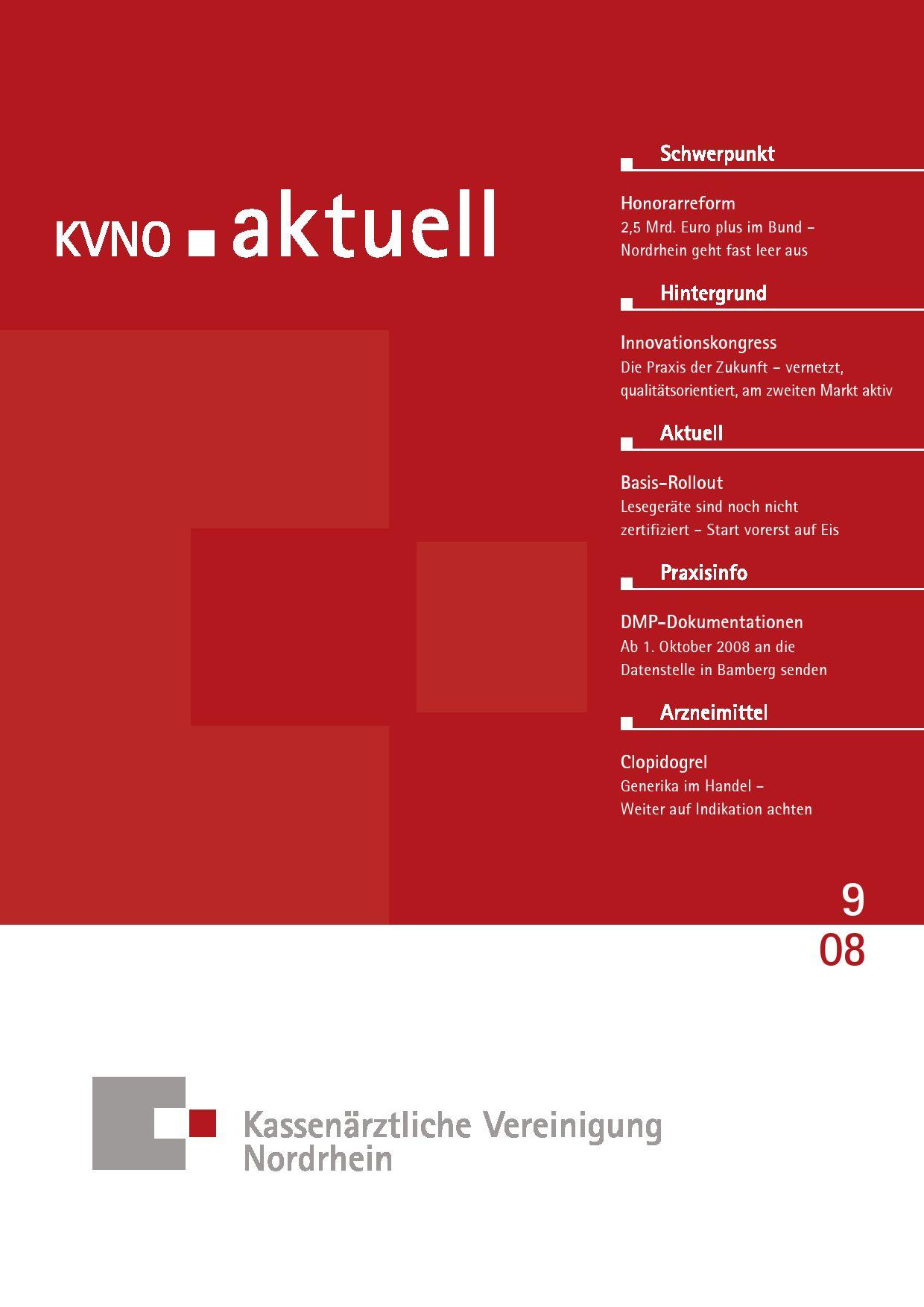 KVNO aktuell 9 2008 by KV Nordrhein - issuu