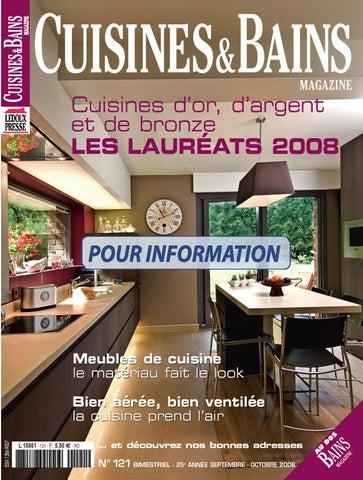 Cuisines bains magazine n 121 by ledoux christian issuu - Cuisine et bains magazine ...