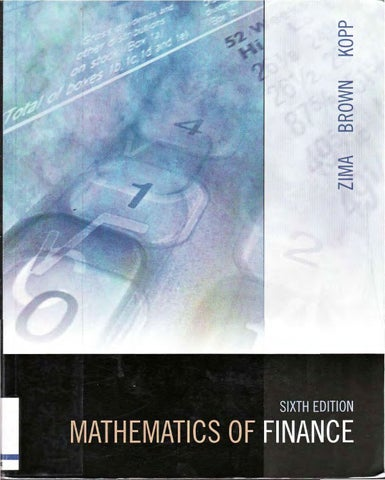 Mathematics of Finance, Zima by Glendon Books - issuu