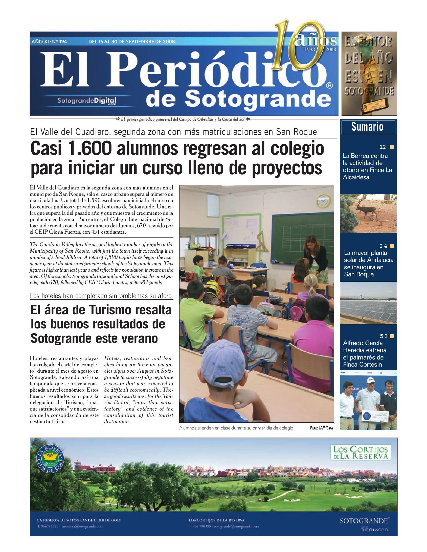 El Periódico de Sotogrande by HCP GROUP SOTOGRANDE - issuu