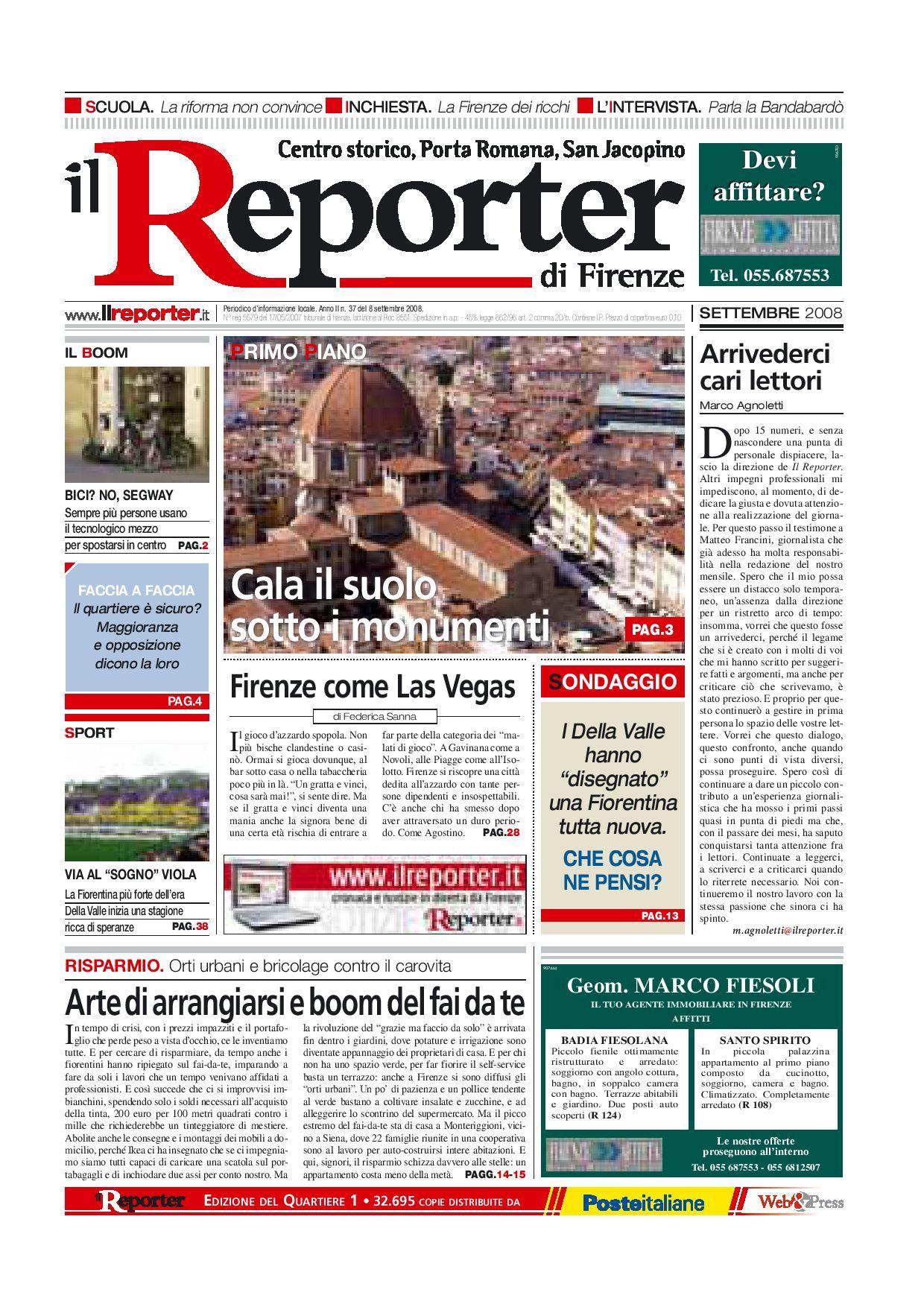 Il Reporter Quartiere 1 Settembre 08 By Ilreporter Issuu