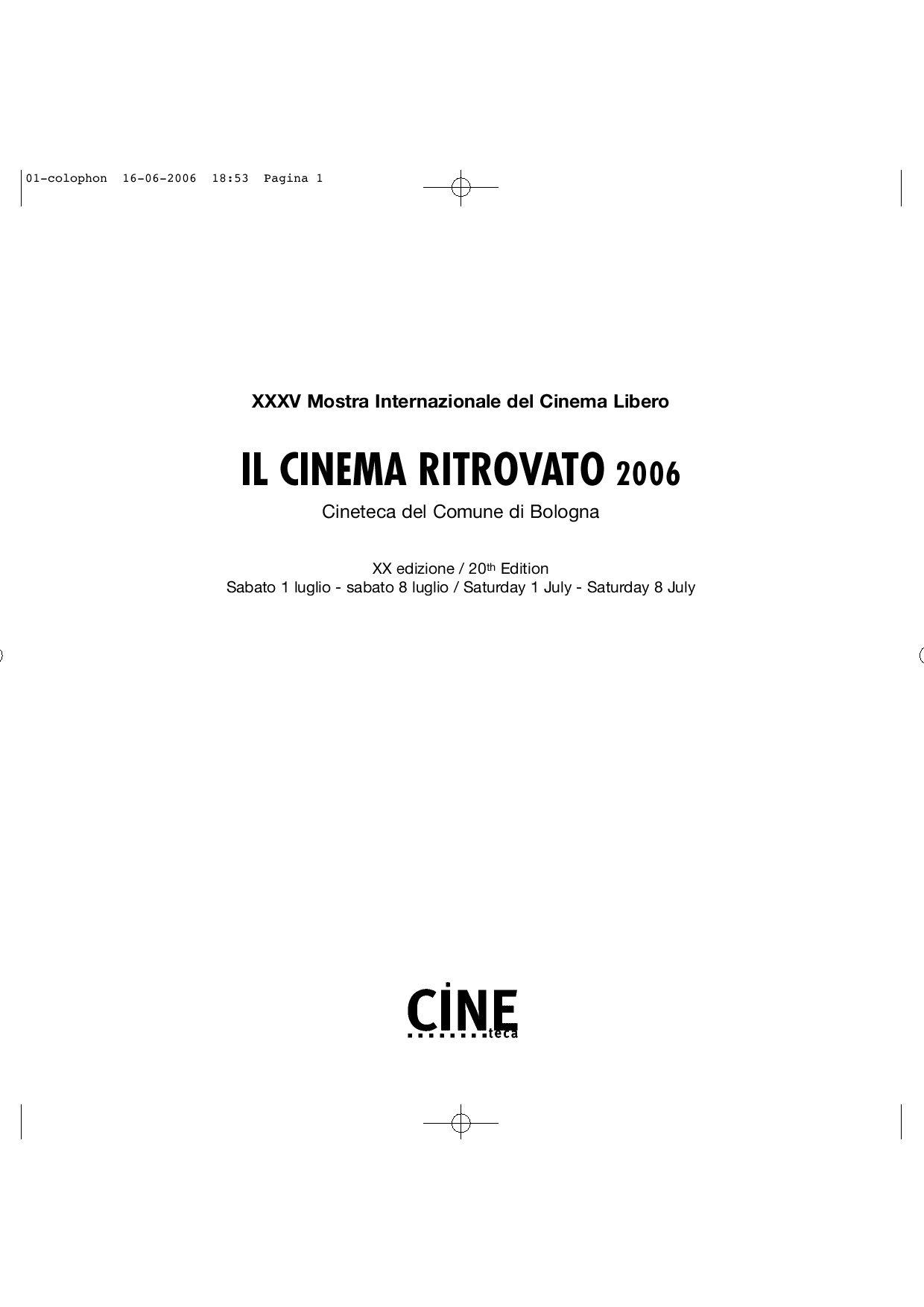 Catologo Il Cinema Ritrovato 2008 By Cineteca Di Bologna Tcash Vaganza 35 Dialogue Baby Giftset Polka Series 05 Issuu