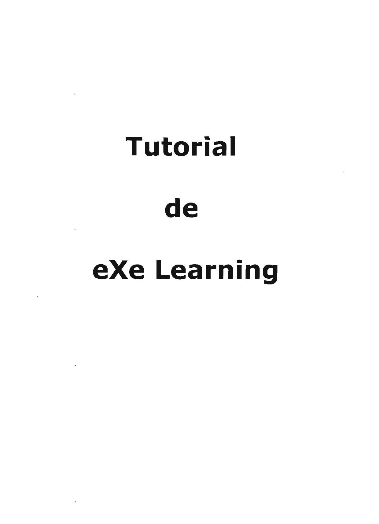Tutorial eXe Learning by Francisco Garcia - issuu