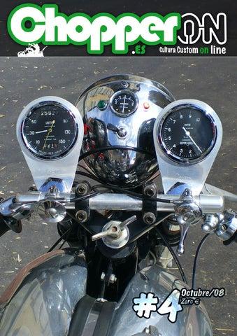 Nasty Lights intermitentes de LED Long manillar grifería HD Harley Davidson fxr plata