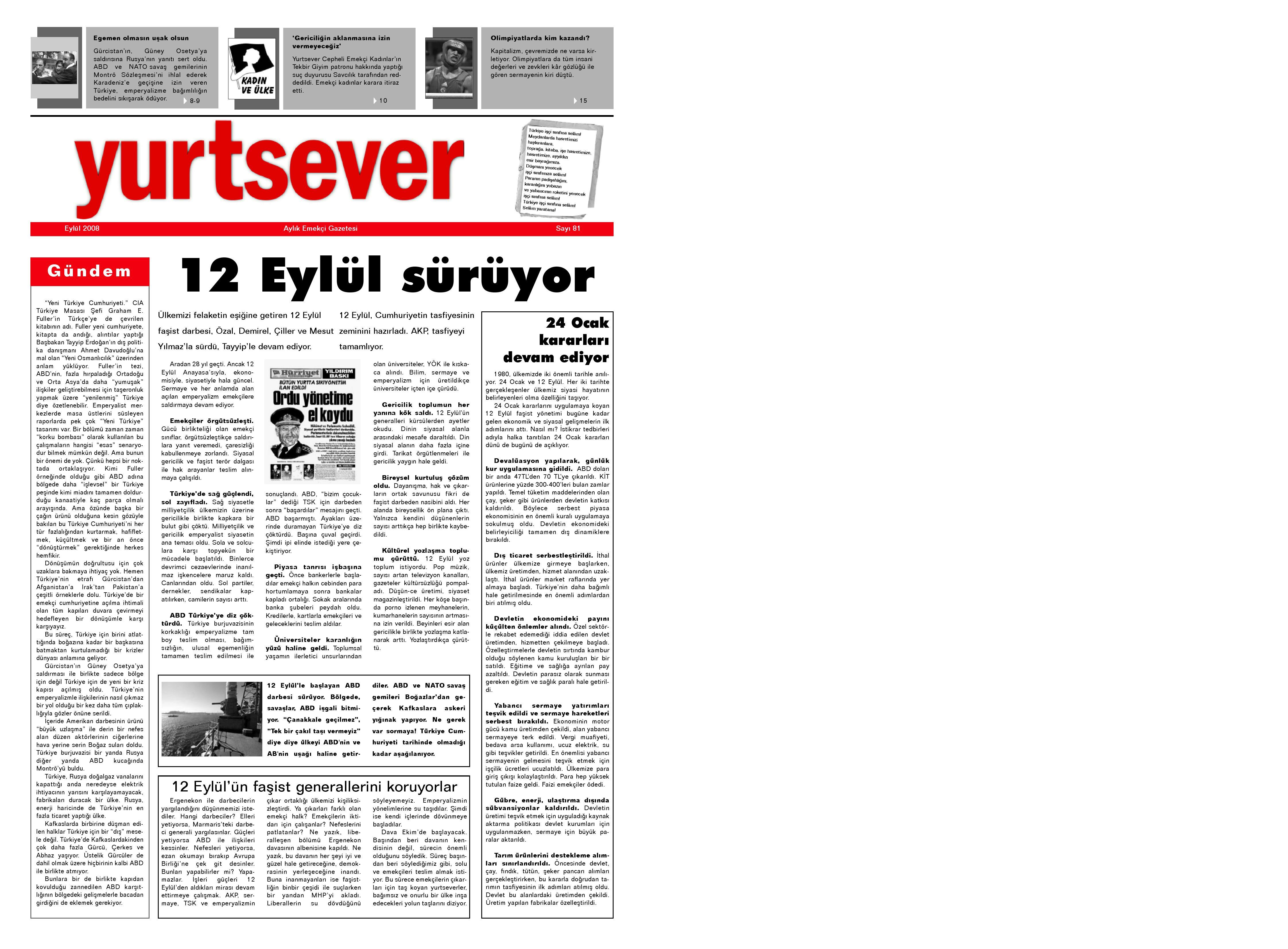 Yurtsever 81 Eylul 2008 By Turkiye Komunist Partisi Tkp Issuu