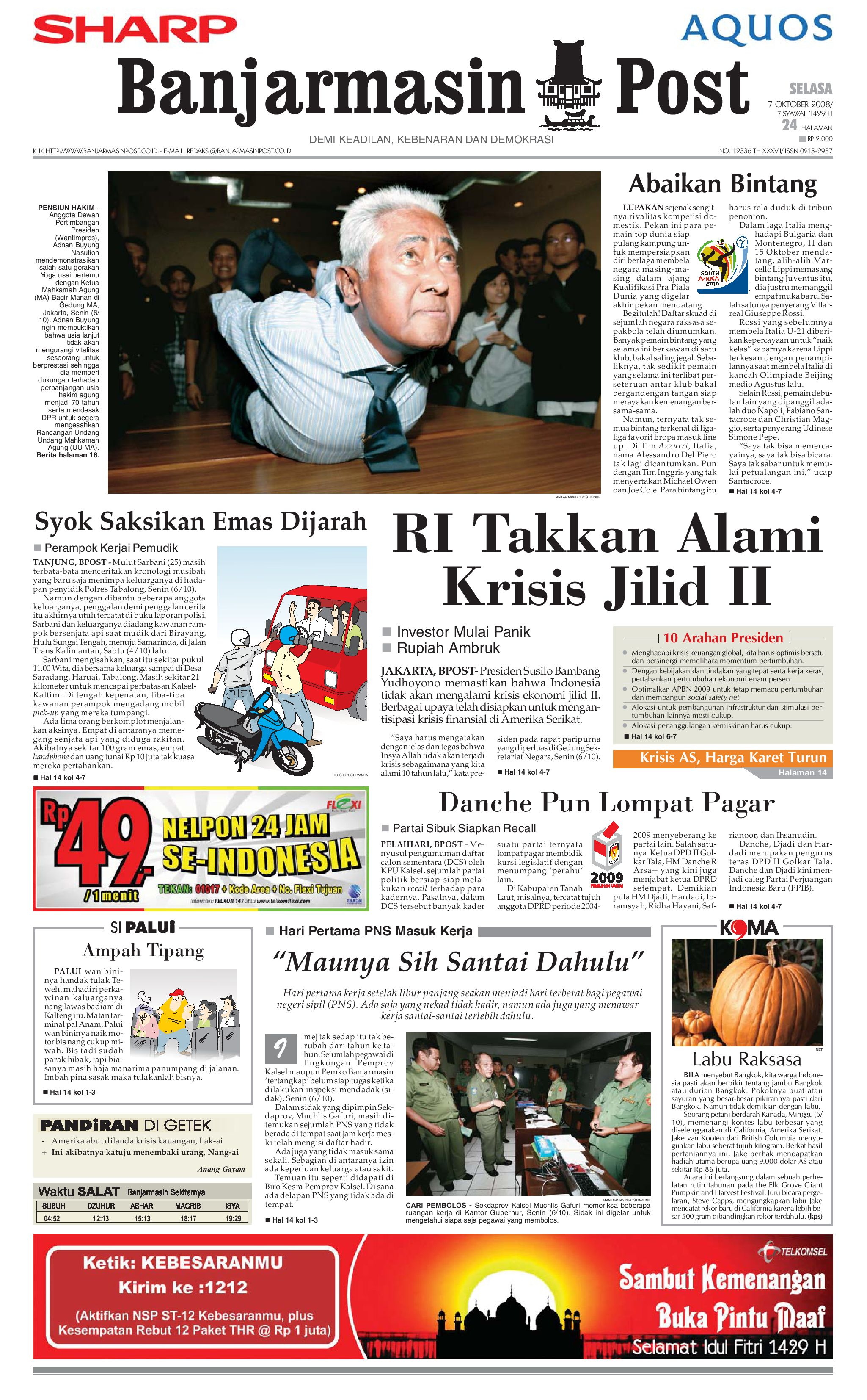 Banjarmasin Post 7 Oktober 2008 By Issuu Produk Ukm Bumn Jus Durian Lite Kuning Omah Duren