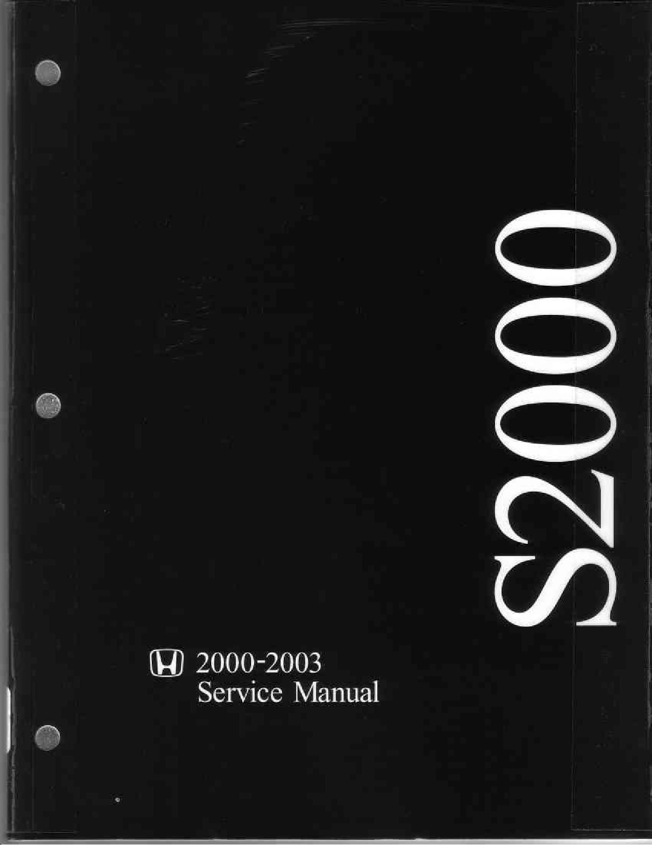 Honda S2000 00 03 Service Manual 01 By Rob Issuu Reed Switch Current Sensor Circuit Diagram Sensorcircuit