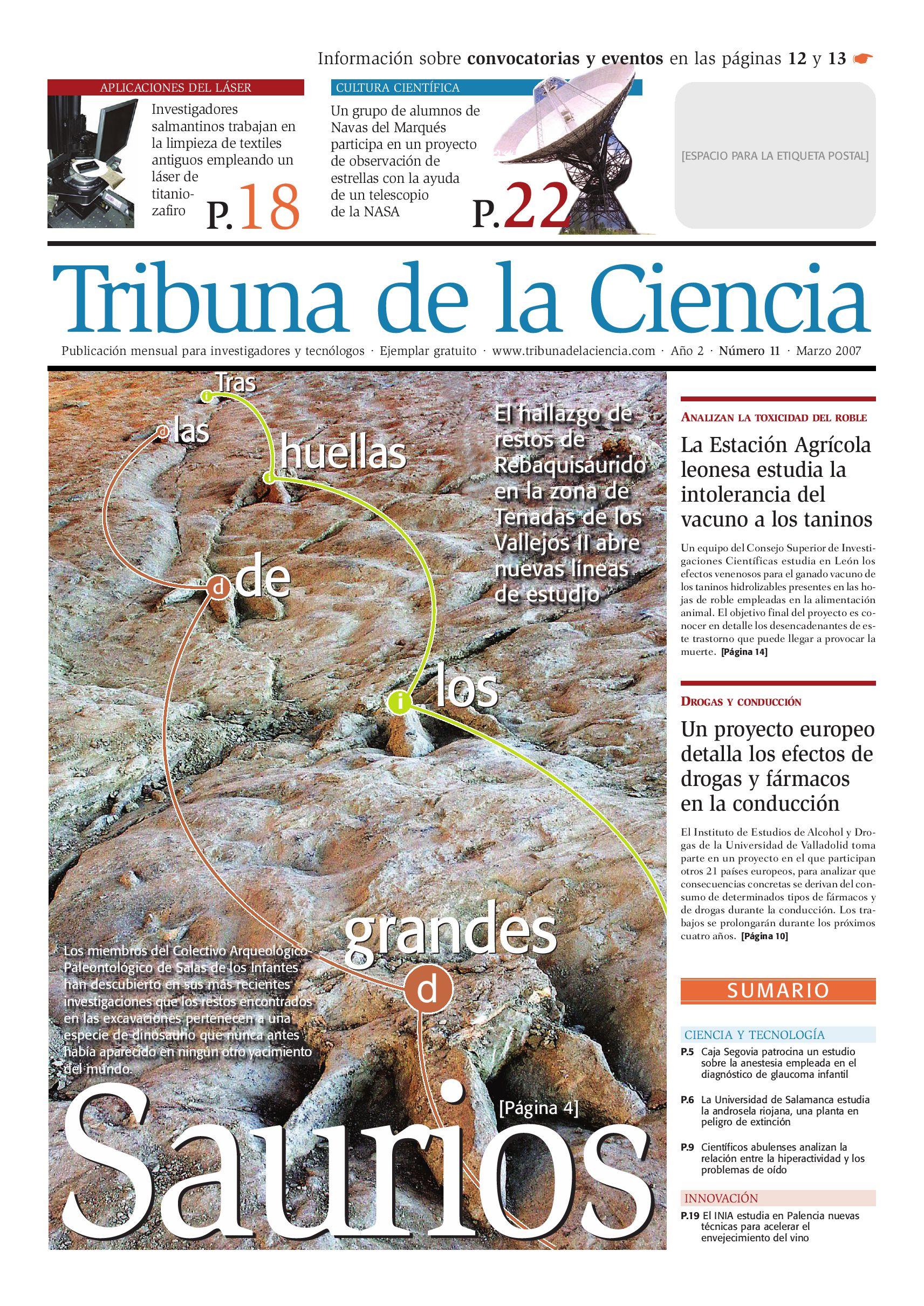 Tribuna de la Ciencia #11 by Agencia DiCYT - issuu
