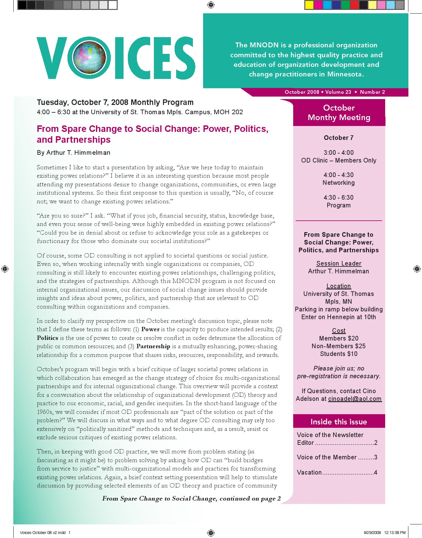 Voices Newsletter by soyphet phomsamouth issuu