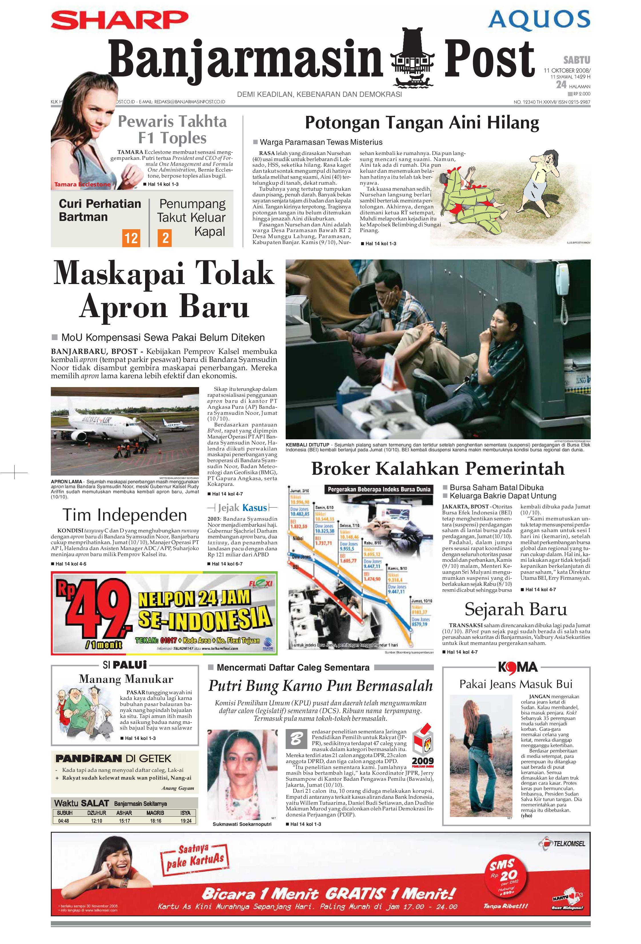 Jual Murah Giwang Emas Khas Bali By Salon Mega Update 2018 Tcash Vaganza 17 Botol Minum Olahraga Aluminium 750ml Biru Banjarmasin Post Sabtu 11 Oktober 2008 Issuu